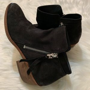 Sam Edelman black suede booties, size 8